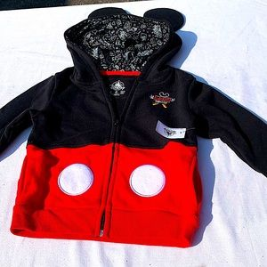 BNWT unisex Mickey Mouse zip up hoodie with ears